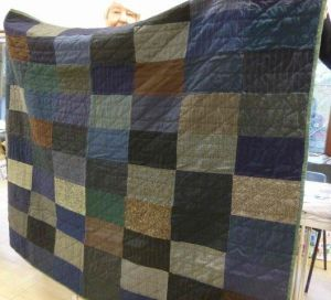 Quilt made with Suit fabric